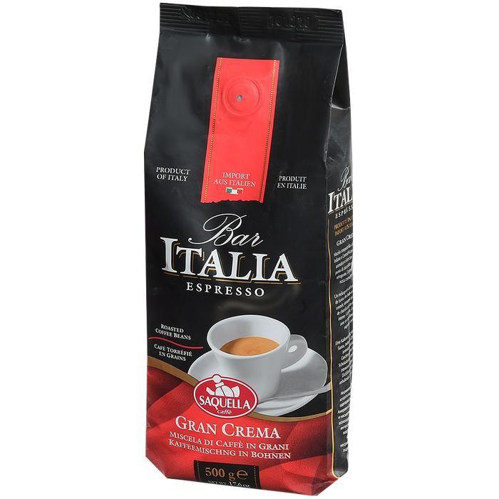 Кофе Saquella Кофе в зернах Bar Italia Espresso Gran Crema 500 г