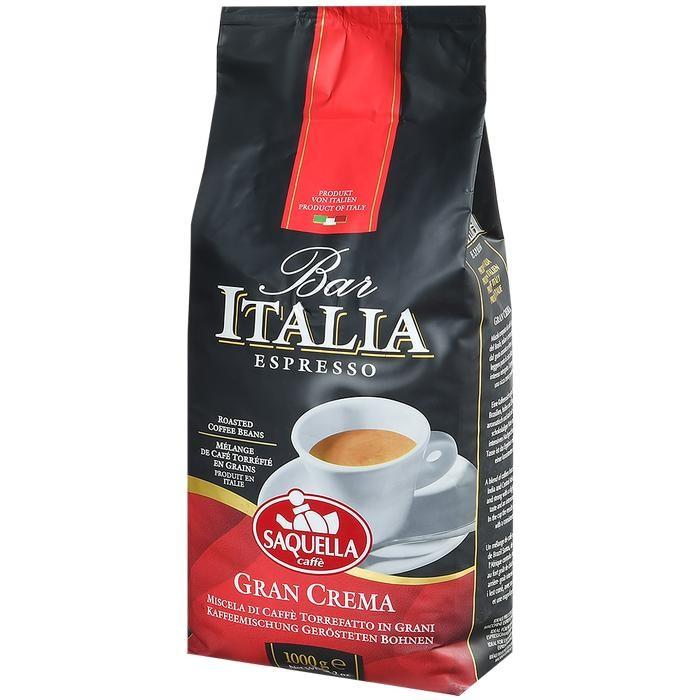 Saquella Кофе в зернах Bar Italia Espresso Gran Crema 1 кг