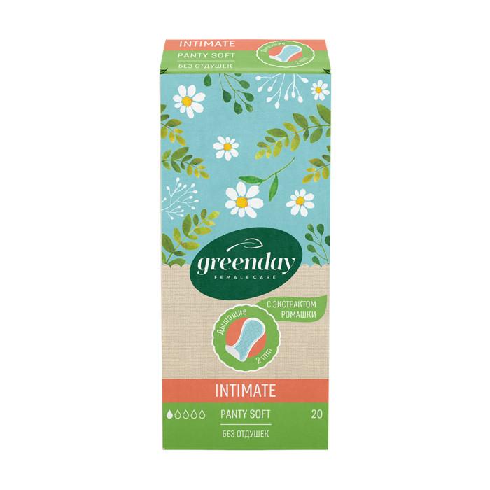 Гигиенические прокладки GreenDay Прокладки ежедневные гигиенические Panty Soft c экстрактом ромашки 20 шт.
