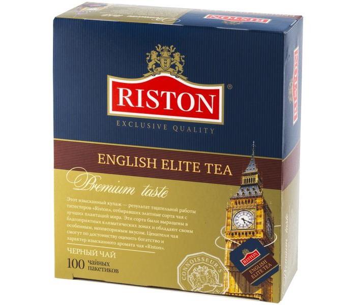 Чай Riston Чай черный English Elite мелкий 100 пак. азерчай чай черный азерчай с бергамотом 100 г