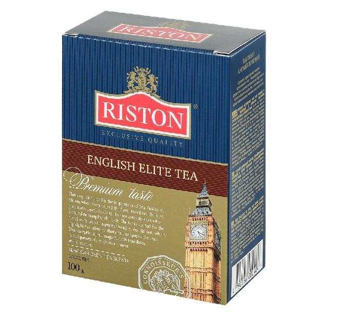 Чай Riston Чай чёрный English Elite 100 г азерчай чай черный азерчай с бергамотом 100 г