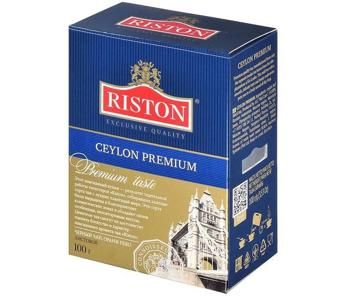 Чай Riston Чай черный Ceylon Premium 100 г чай черный tess ceylon 100 г