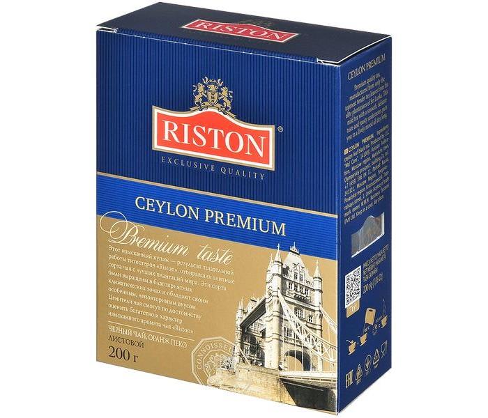 Чай Riston Чай черный Ceylon Premium 200 г чай черный tess ceylon 100 г
