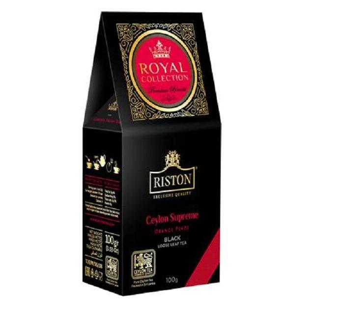 Чай Riston Чай черный Royal Collection Ceylon Supreme крупнолистовой 100 г чай черный tess ceylon 100 г