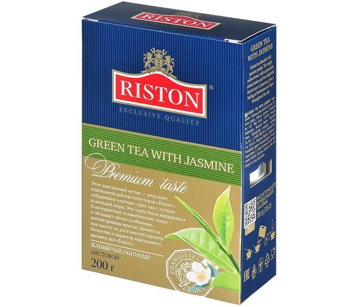 Чай Riston Чай зелёный Green с лепестками жасмина 200 г зелёный чай лунцзин колодец дракона новинка 50 г