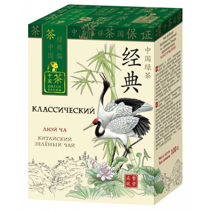 Чай Зеленая панда Чай зеленый байховый китайский крупнолистовой Классический 100 г недорого