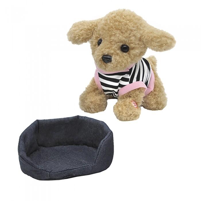 Мягкие игрушки, Мягкая игрушка Пушистые друзья Собачка мягкая на лежанке 23 см  - купить со скидкой