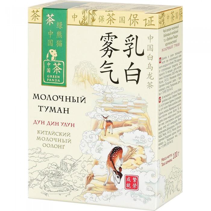 Чай Зеленая панда Чай байховый китайский крупнолистовой с ароматом молока Молочный туман 100 г недорого