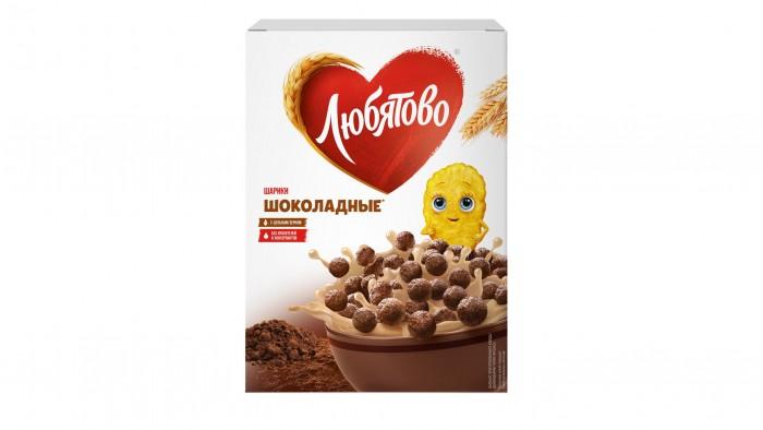Готовые завтраки, мюсли и хлопья Любятово Завтрак готовый Шарики шоколадные 250 г недорого