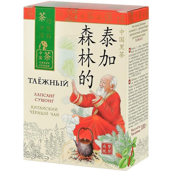 Чай Зеленая панда Чай черный крупнолистовой таежный 100 г недорого