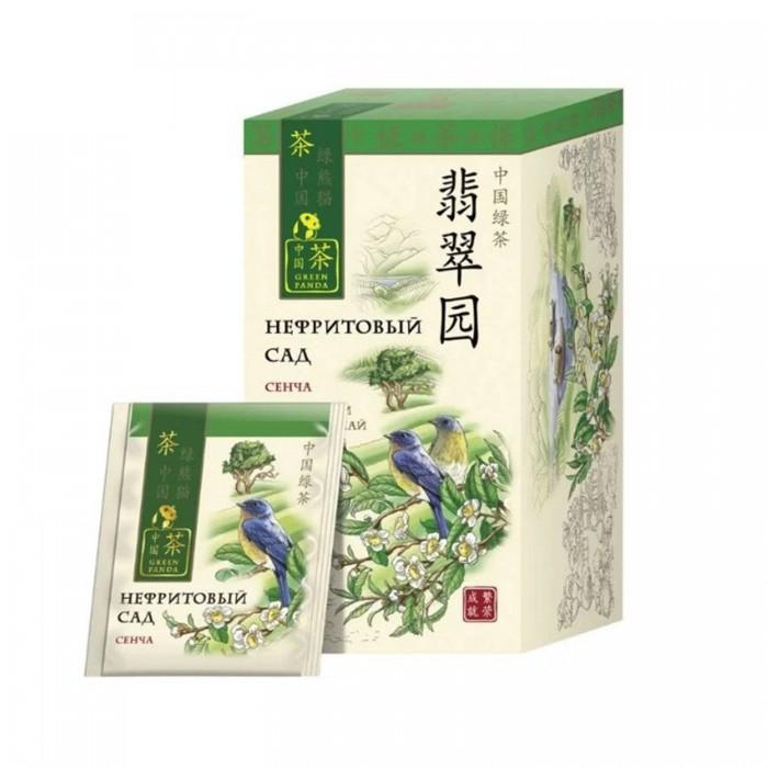 Чай Зеленая панда Чай зеленый сенча Нефритовый сад 25 пак. недорого