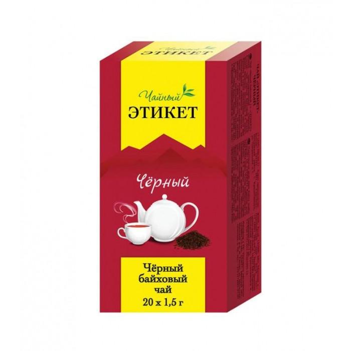 Чай Этикет Чай черный байховый 20 пак. чай tet чай чёрный байховый лорд грей 100 пак
