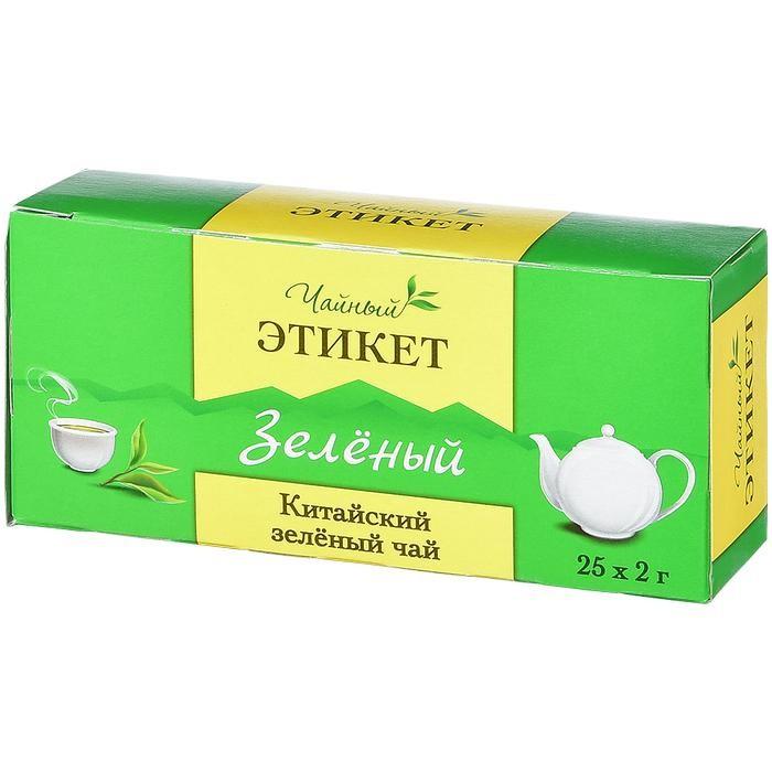Чай Этикет Чай зеленый 25 пак.