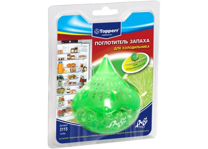 Бытовая химия Topperr Поглотитель запаха для холодильника Лайм