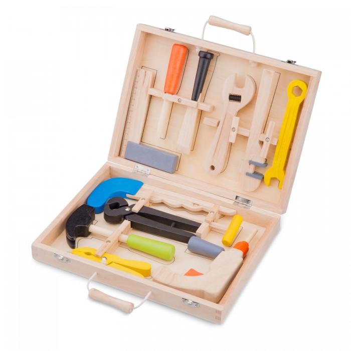 Деревянные игрушки New Cassic Toys Игровой набор инструментов 12 предметов