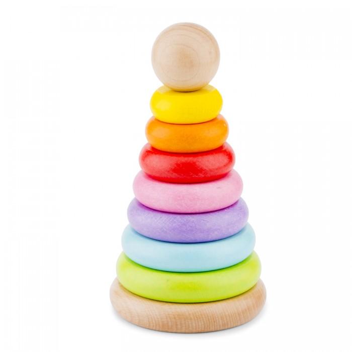 Деревянная игрушка New Cassic Toys Пирамидка 7 колец 10501