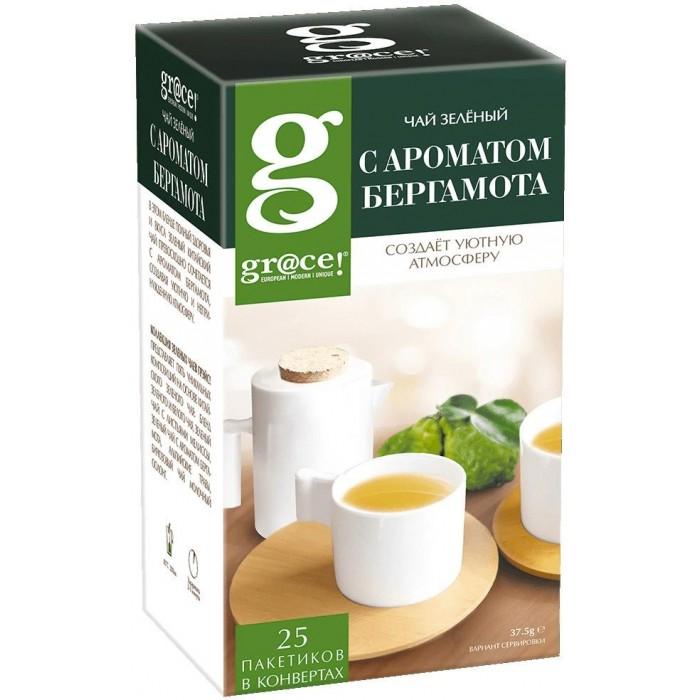 Чай Grace Чай зелёный с маслом бергамота 25 пак.
