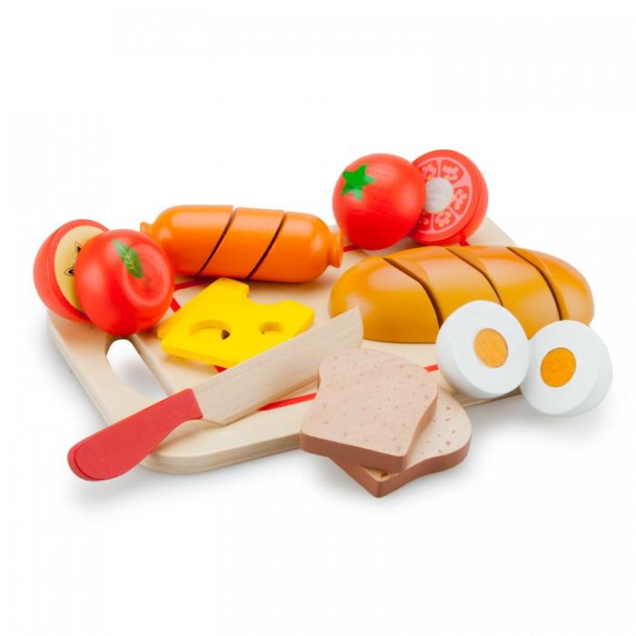Деревянная игрушка New Cassic Toys Игровой набор продуктов завтрак