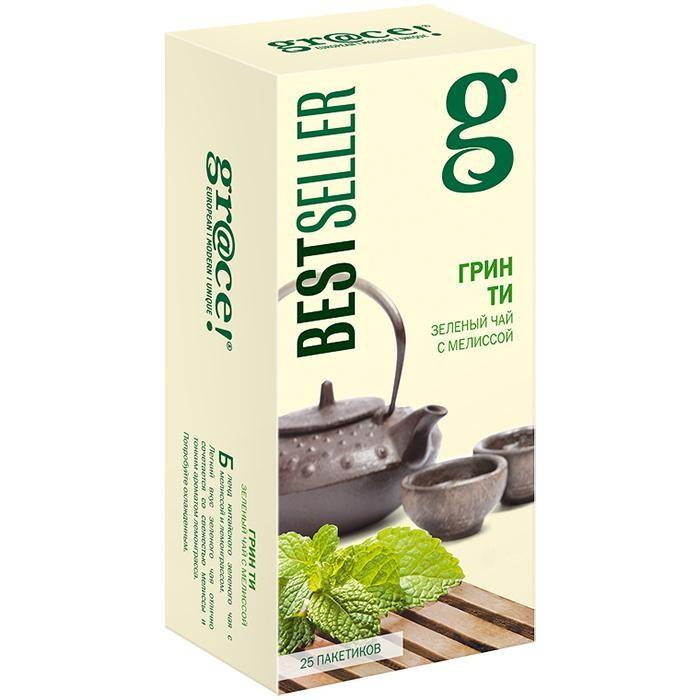 Чай Grace Чай зелёный с мелиссой Грин Ти 25 пак.