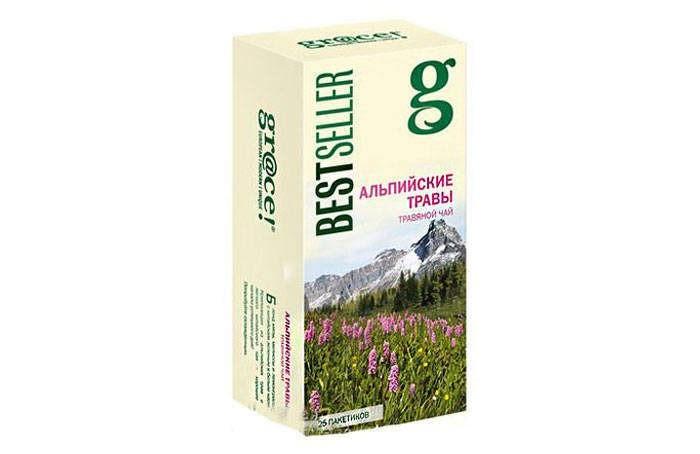 Чай Grace Чай зелёный Альпийские травы 25 пак.