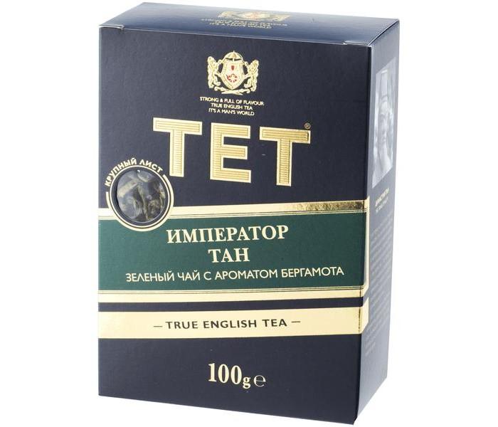 Чай Tet Чай зеленый с ароматом бергамота Император Тан 100 г