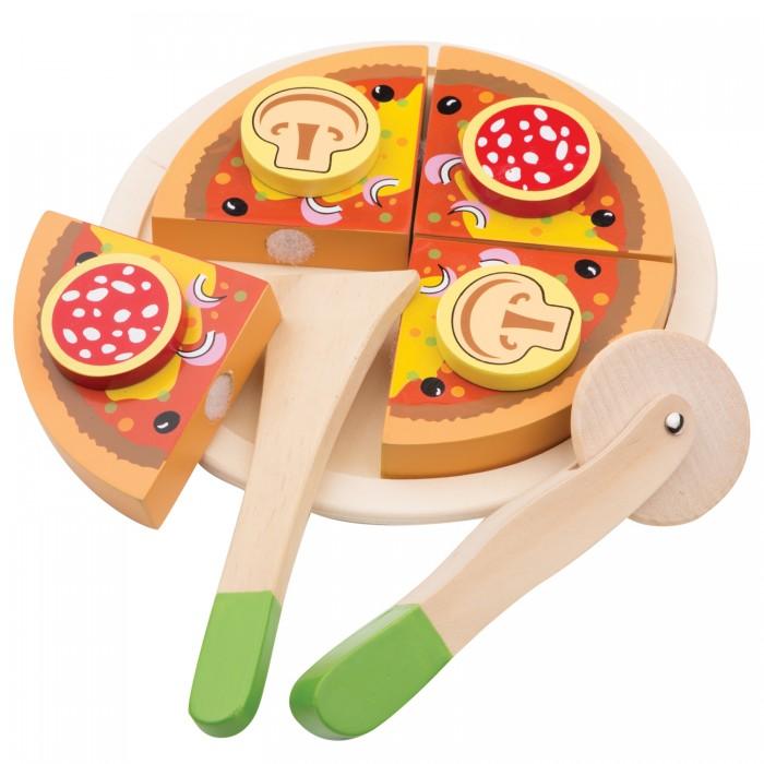 Деревянная игрушка New Cassic Toys Пицца салями