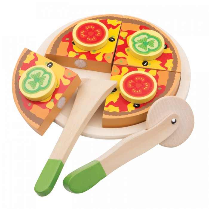 Деревянная игрушка New Cassic Toys Пицца вегетарианская