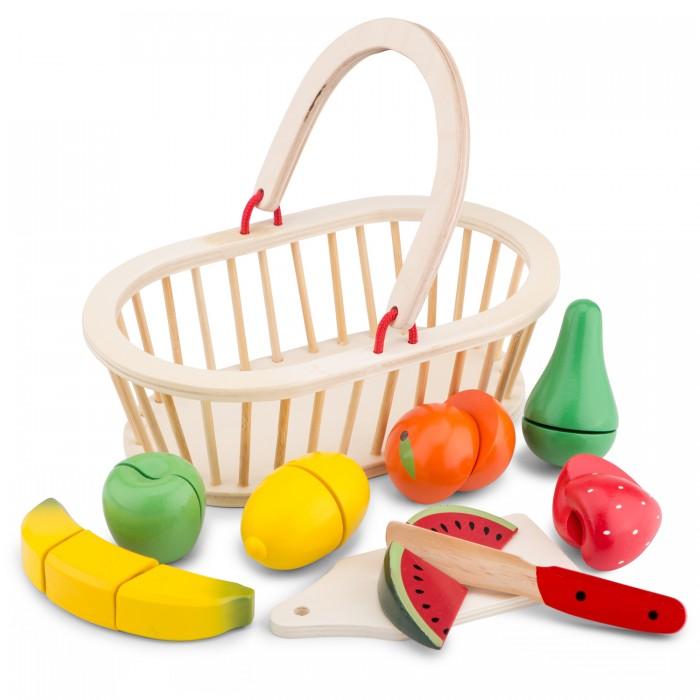презент от айболита подарочная корзина с фруктами и сладостями Деревянные игрушки New Cassic Toys Игровой набор Корзина с фруктами