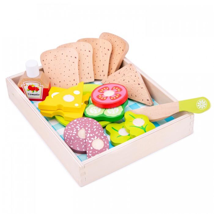 Деревянная игрушка New Cassic Toys Набор продуктов для пикника