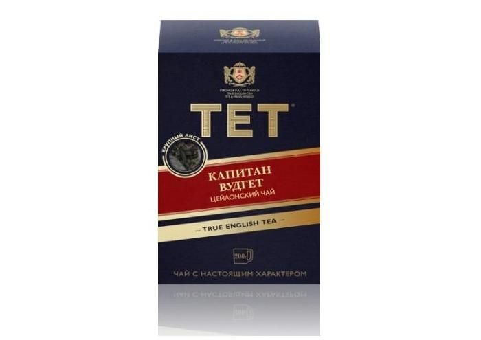 Чай Tet Чай черный листовой Капитан Вудгет 200 г недорого