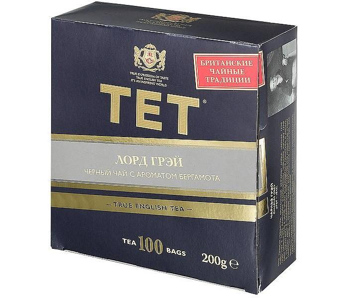 Чай Tet Чай чёрный байховый Лорд Грей 100 пак. чай tet чай чёрный байховый лорд грей 100 пак
