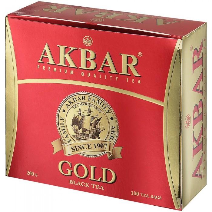 Чай Akbar Чай черный байховый мелколистовой Gold 100 пак чай азерчай букет черный байховый 200г