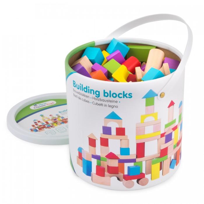 Деревянная игрушка New Cassic Toys Набор геометрических фигурок 100 деталей