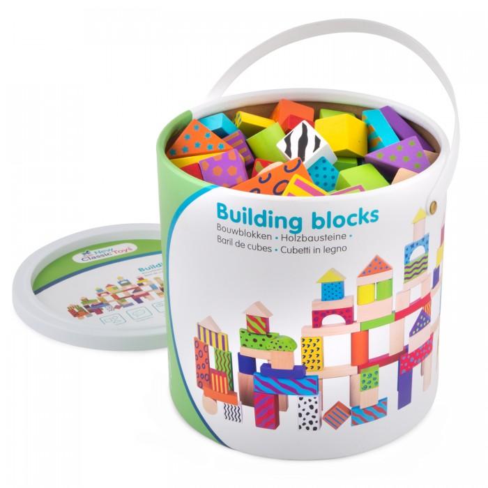 Деревянная игрушка New Cassic Toys Набор геометрических фигурок 100 деталей 10813