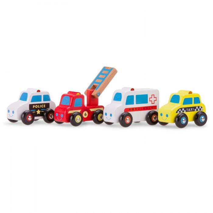 Деревянная игрушка New Cassic Toys Набор машинок 4 шт. 11930
