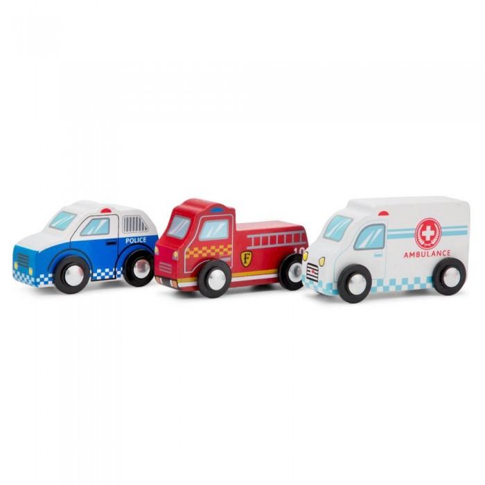 Деревянная игрушка New Cassic Toys Набор машинок 3 шт. 11933