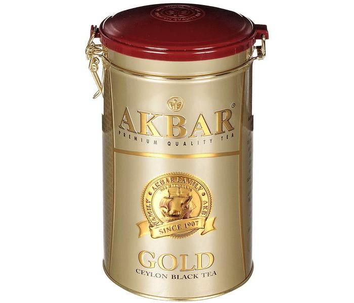 Чай Akbar Чай черный среднелистовой Gold 225 г чай akbar чай черный среднелистовой gold 250 г