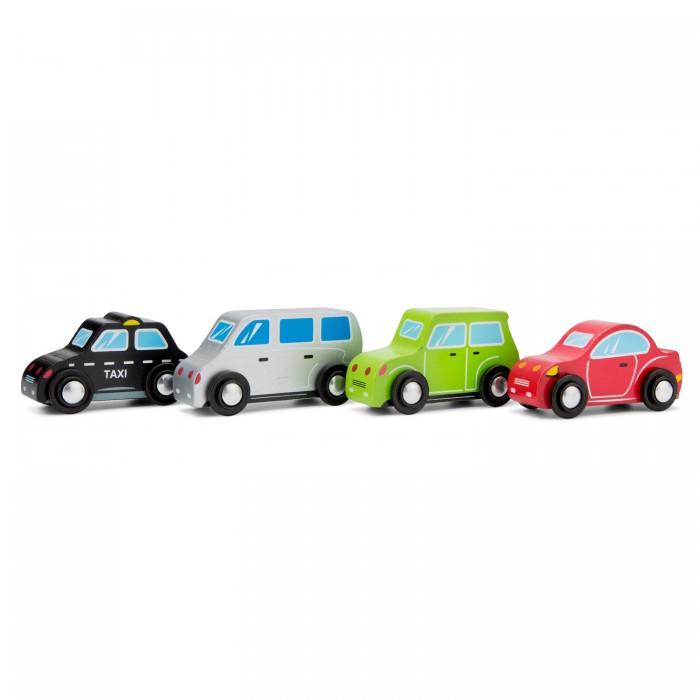 Деревянная игрушка New Cassic Toys Набор машинок 4 шт. 11934