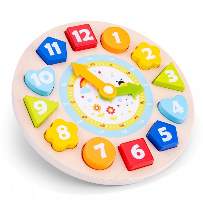 Фото - Деревянные игрушки New Cassic Toys Сортер Часы 18252 plantoys сортер каталка plan toys автобус