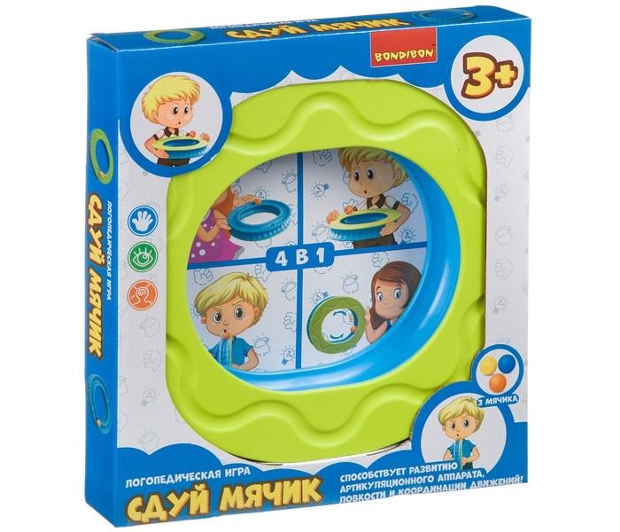 Картинка для Игры для малышей Bondibon Логопедическая игра Сдуй мячик
