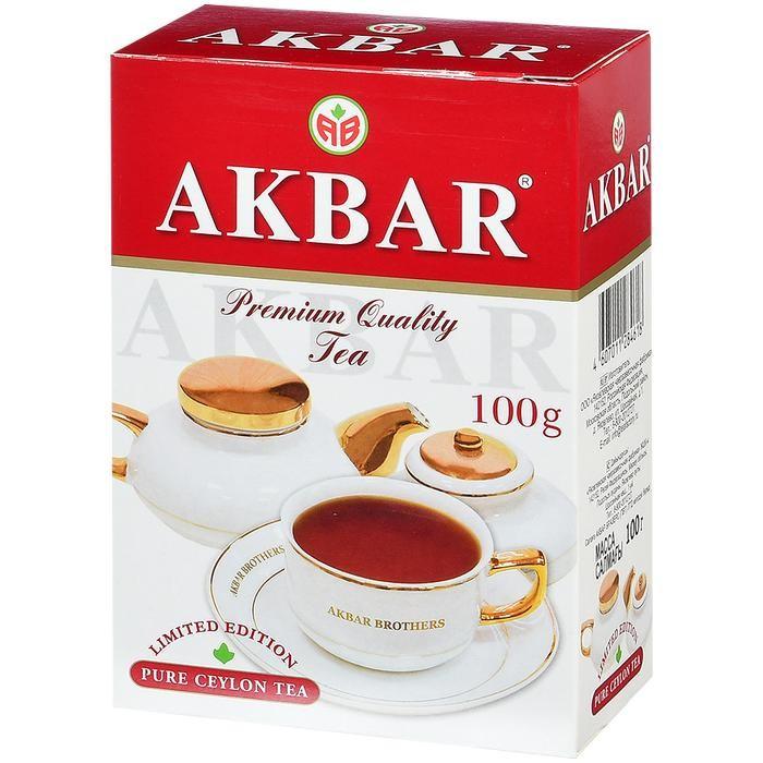 Чай Akbar Чай черный крупнолистовой Limited Edition 100 г чай akbar чай черный среднелистовой gold 250 г