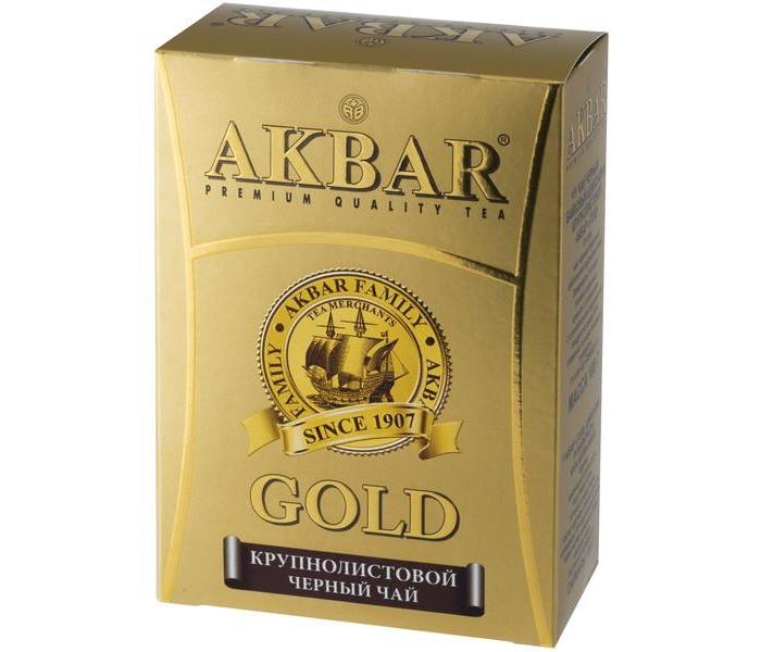 Чай Akbar Чай черный Крупнолистовой Gold цейлонский 100 г