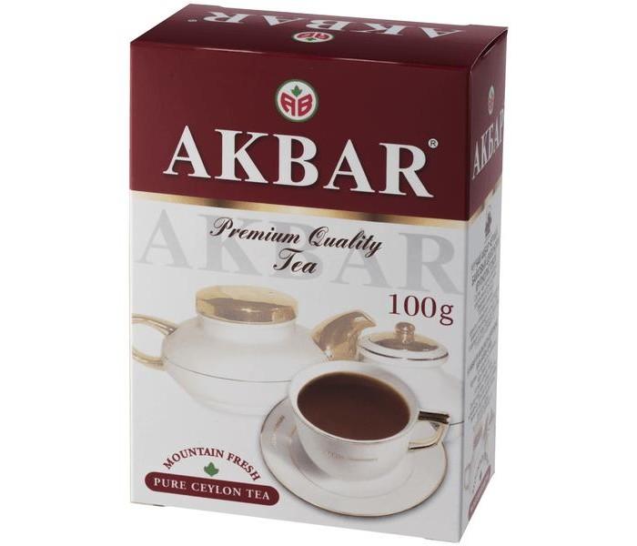 Чай Akbar Чай черный Крупнолистовой цейлонский 100 г