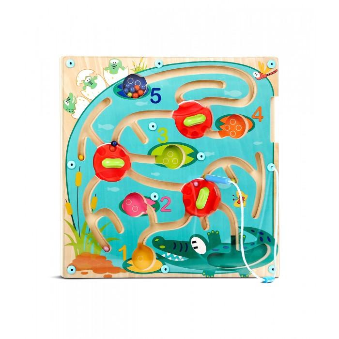 Фото - Деревянные игрушки TopBright Магнитная игра Лабиринт Крокодил деревянные игрушки topbright магнитная игра рыбалка 26 элементов