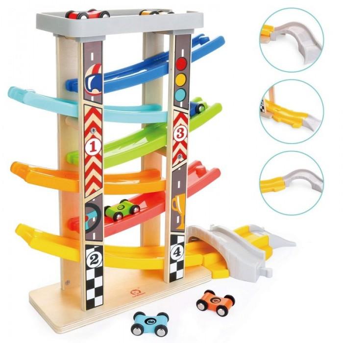 Машины TopBright Игровой набор Гоночный трек с мостом 7 уровней