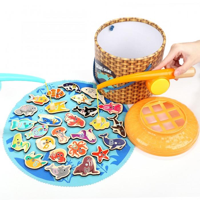 Фото - Деревянные игрушки TopBright Магнитная игра Рыбалка (26 элементов) деревянные игрушки topbright магнитная игра рыбалка 26 элементов