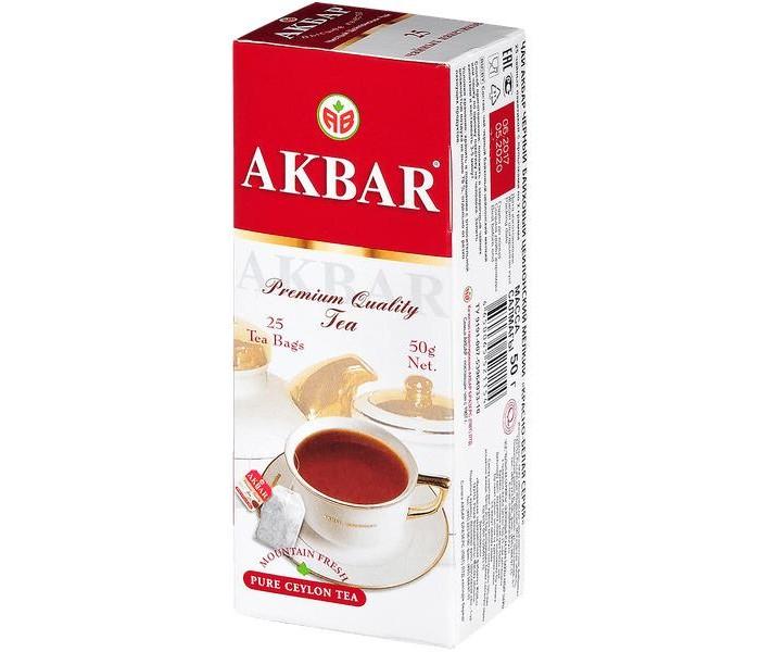 Чай Akbar Чай черный Красно - белая серия 25 пак чай akbar чай черный ароматизированный яблоко и шиповник 25 пак