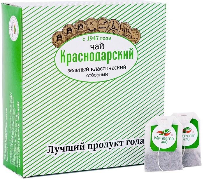 Чай Краснодарский Чай зеленый классический Отборный 100 пак.