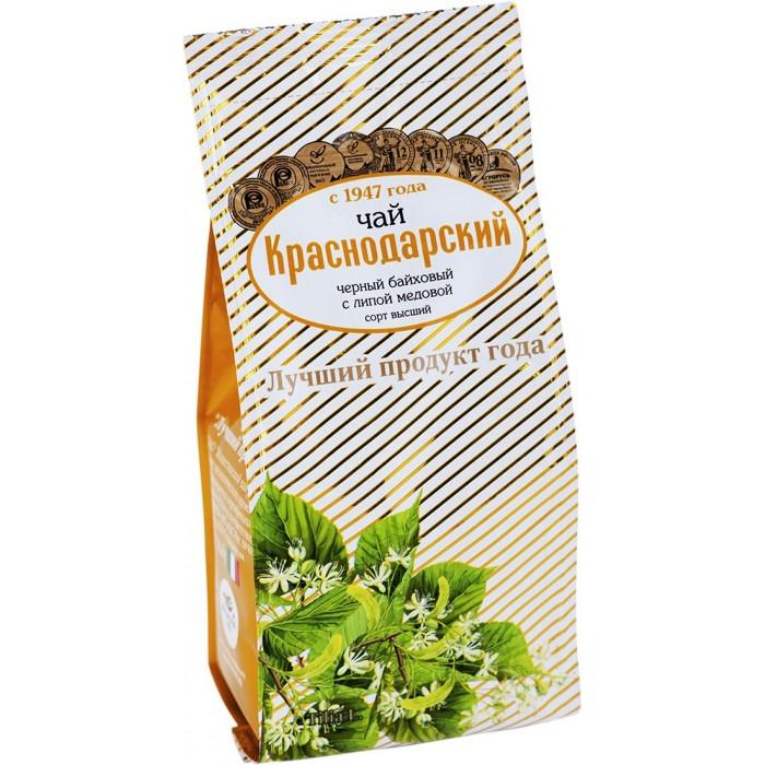 Чай Краснодарский Чай черный байховый Липа медовая 100 г чай азерчай букет черный байховый 200г