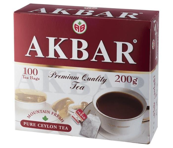 Чай Akbar Чай черный Красно - белая серия 100 пак чай akbar чай черный ароматизированный яблоко и шиповник 25 пак